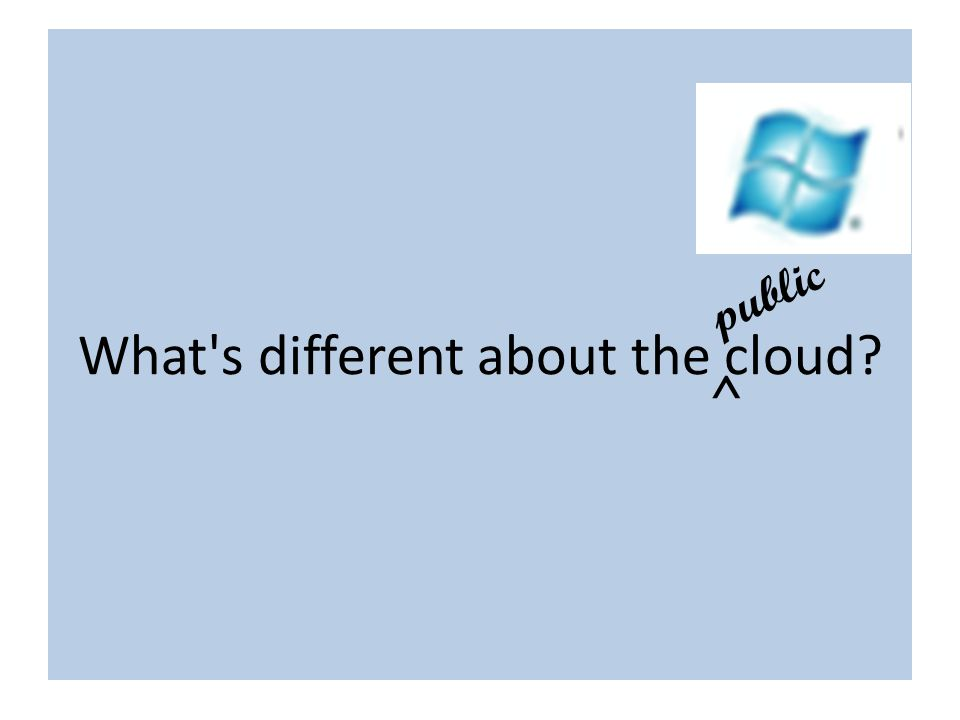 What s different about the cloud