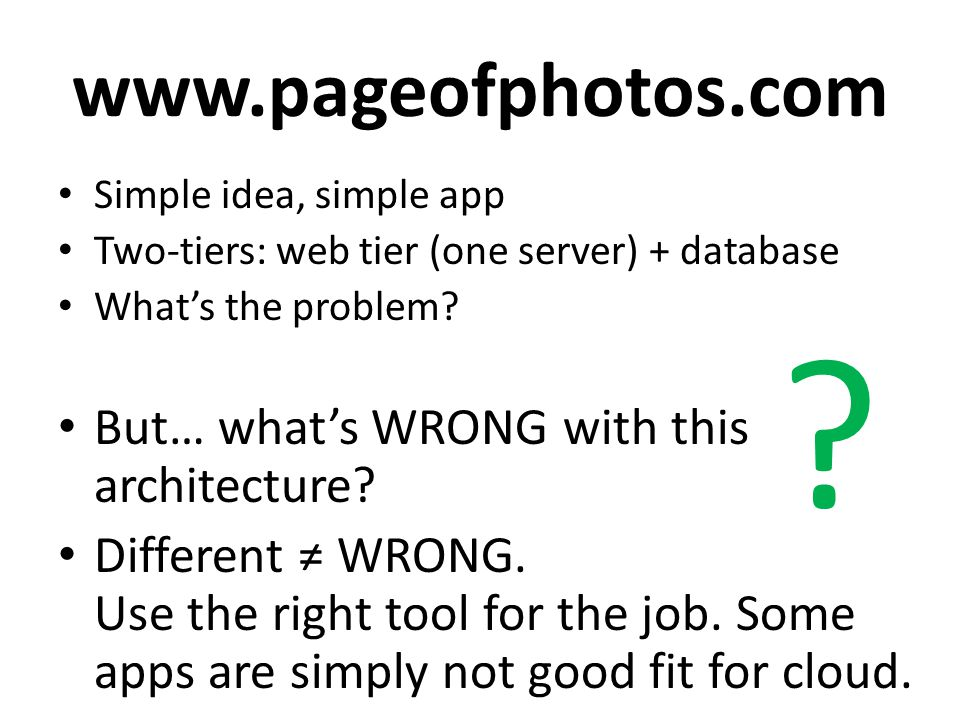 www.pageofphotos.com But… what's WRONG with this architecture