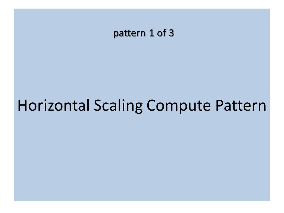 Horizontal Scaling Compute Pattern