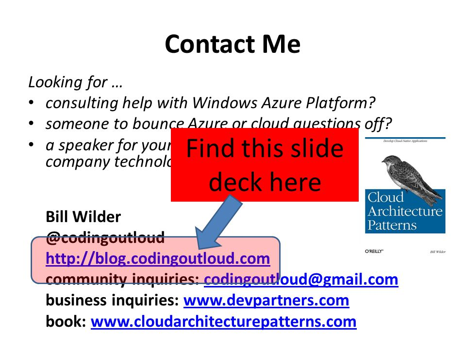 Find this slide deck here