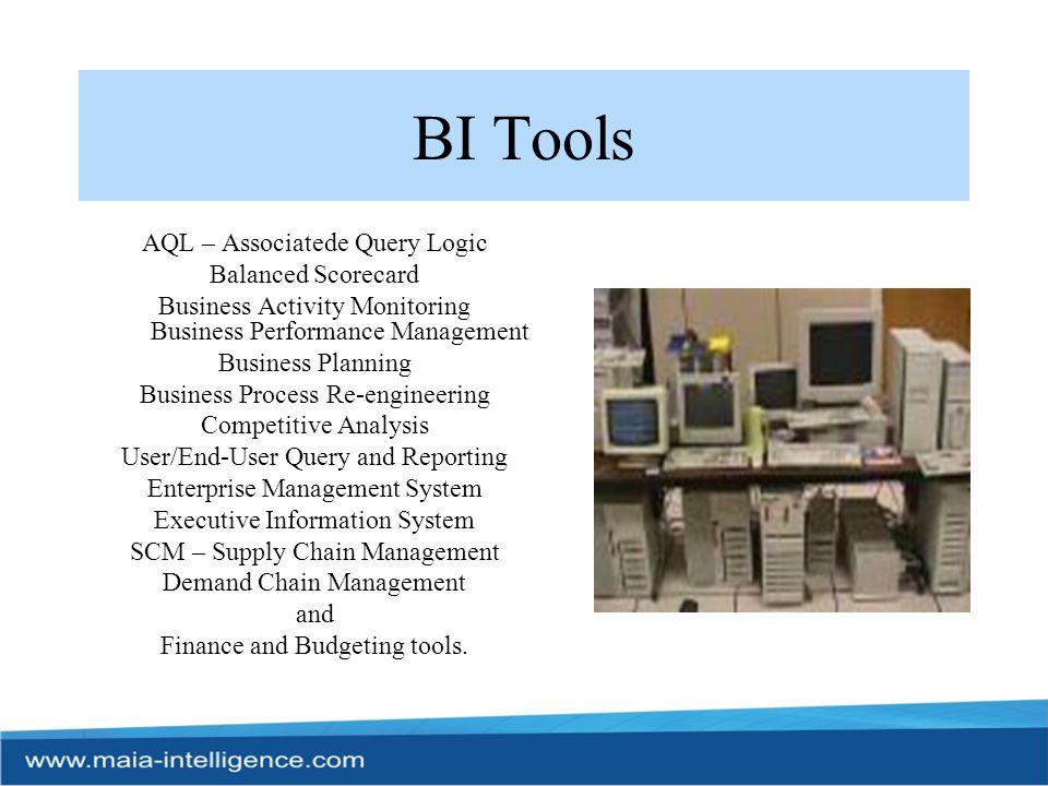 BI Tools AQL – Associatede Query Logic Balanced Scorecard