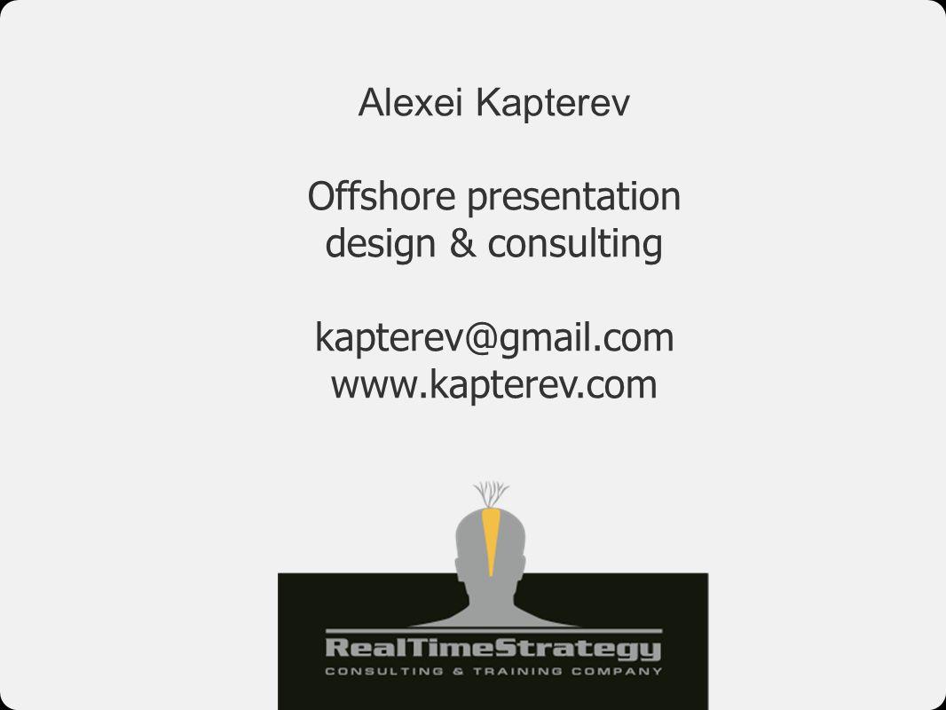 Offshore presentation design & consulting