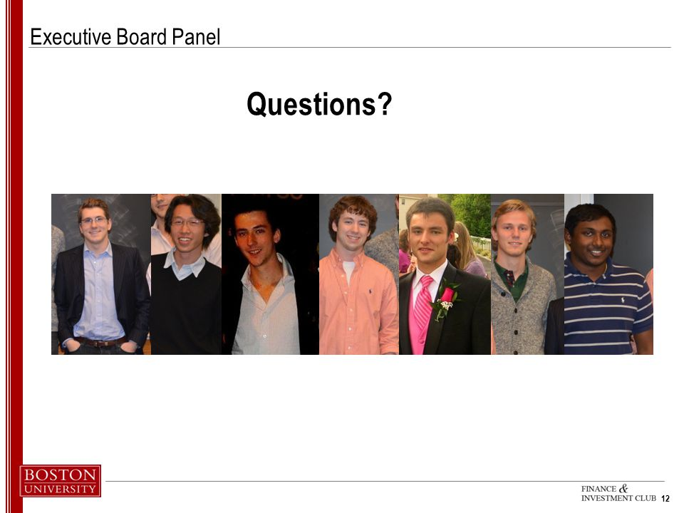 Executive Board Panel Questions