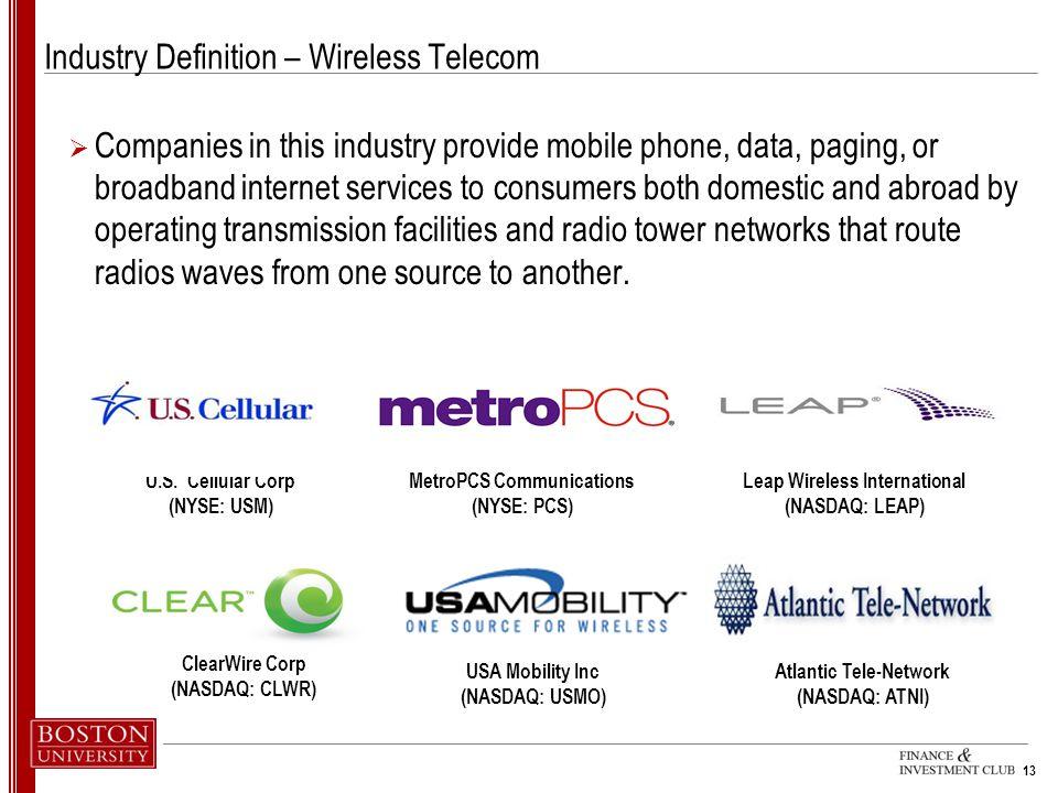 Industry Definition – Wireless Telecom