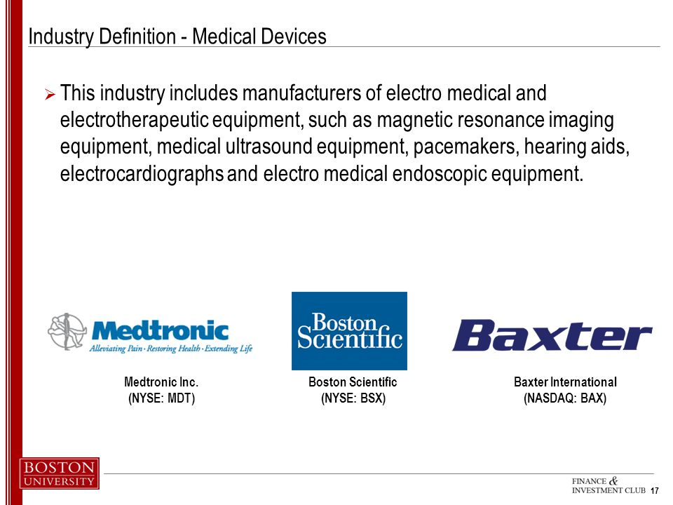 Industry Definition - Medical Devices
