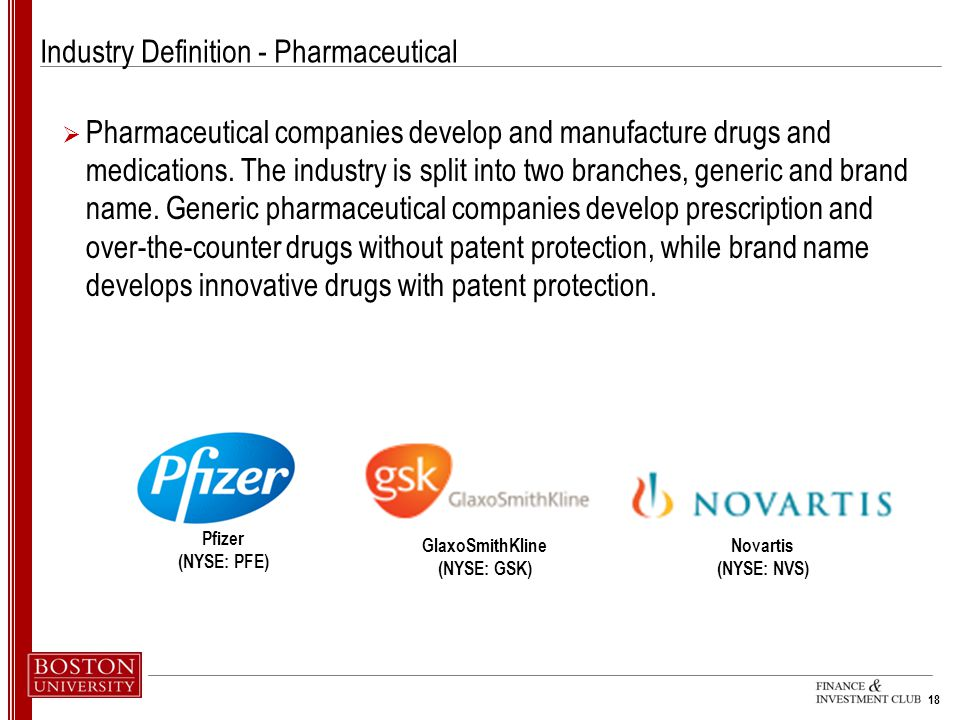 Industry Definition - Pharmaceutical
