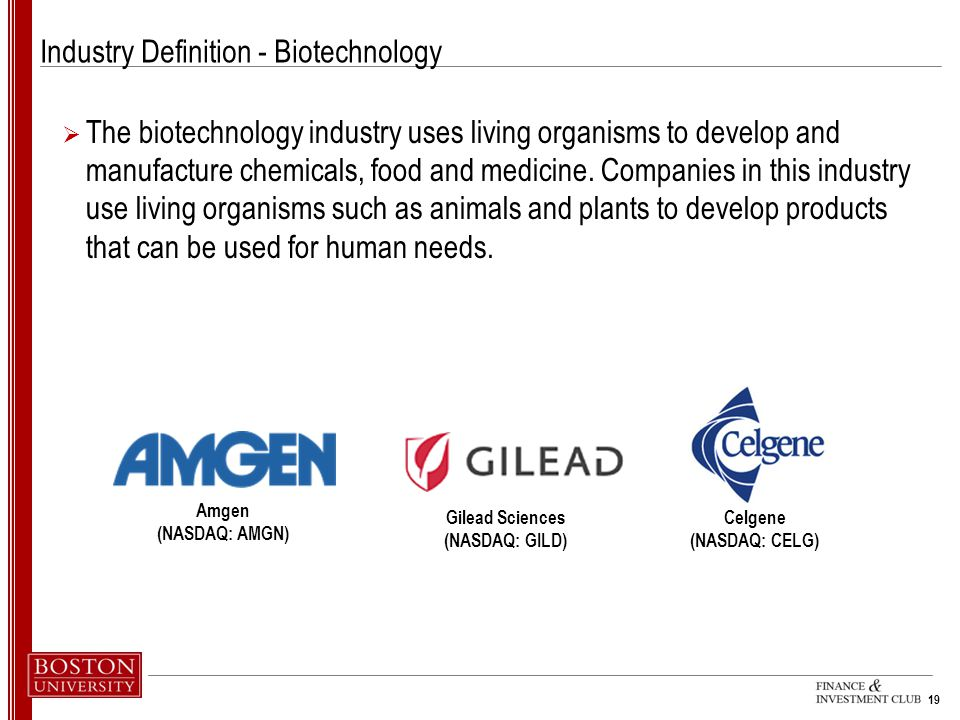 Industry Definition - Biotechnology
