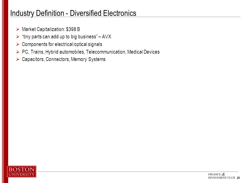 Industry Definition - Diversified Electronics