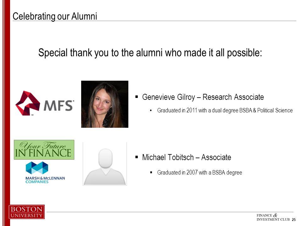 Celebrating our Alumni