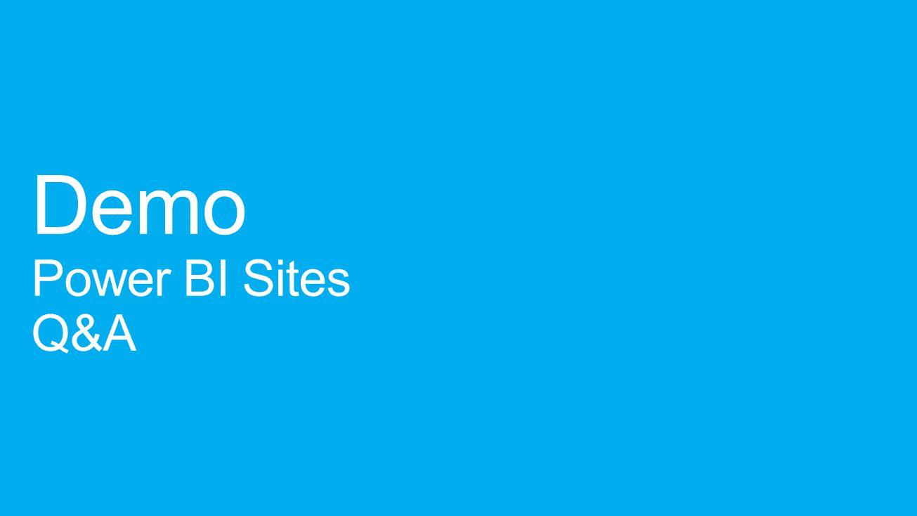 Demo Power BI Sites Q&A