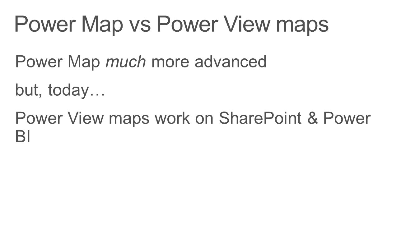 Power Map vs Power View maps