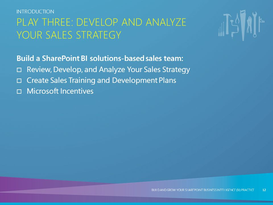Play ThRee: Develop and Analyze Your Sales Strategy