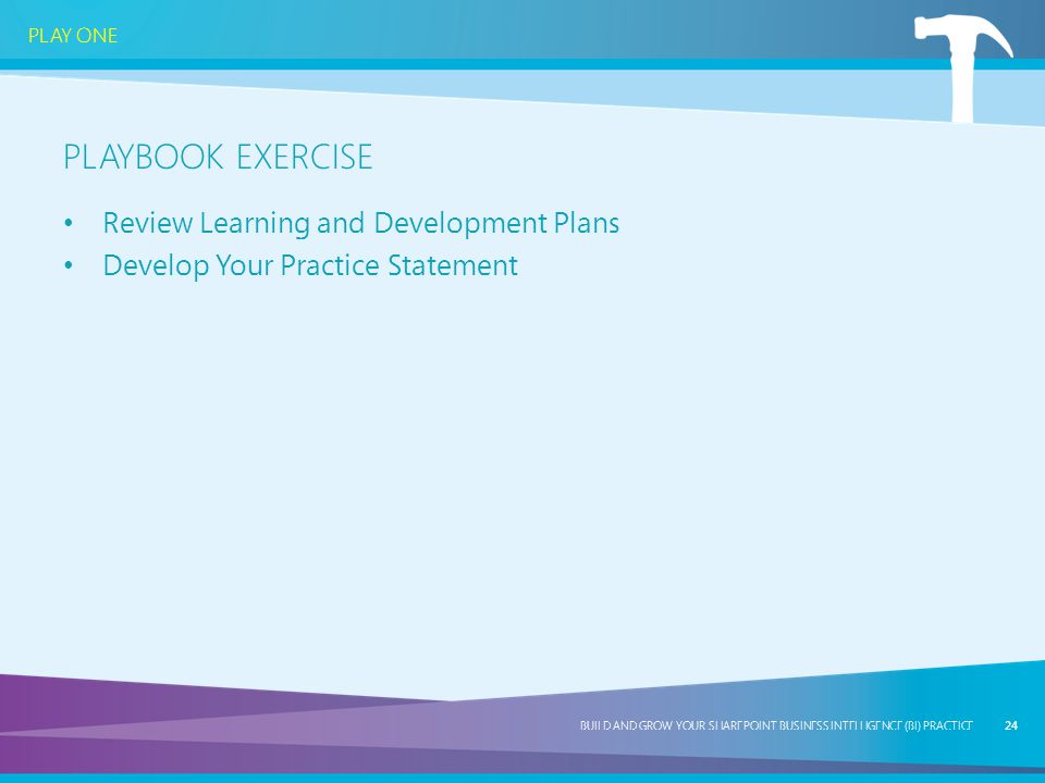 Playbook Exercise Review Learning and Development Plans