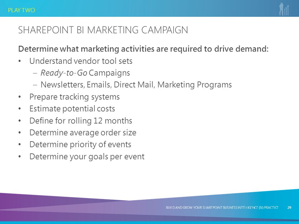 Sharepoint bi Marketing Campaign
