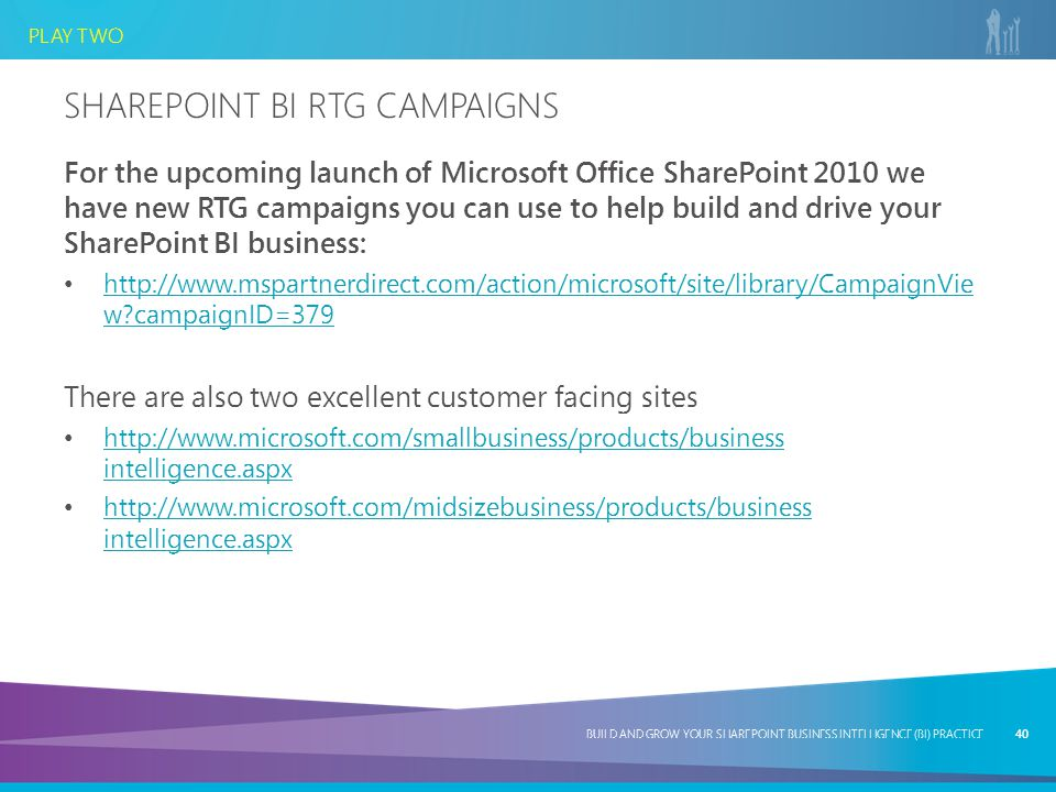 SharePoint BI RTG Campaigns