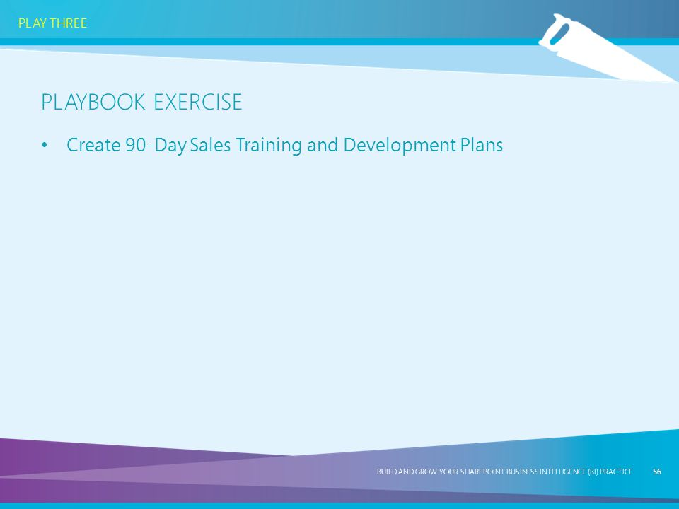 Playbook exercise Create 90-Day Sales Training and Development Plans