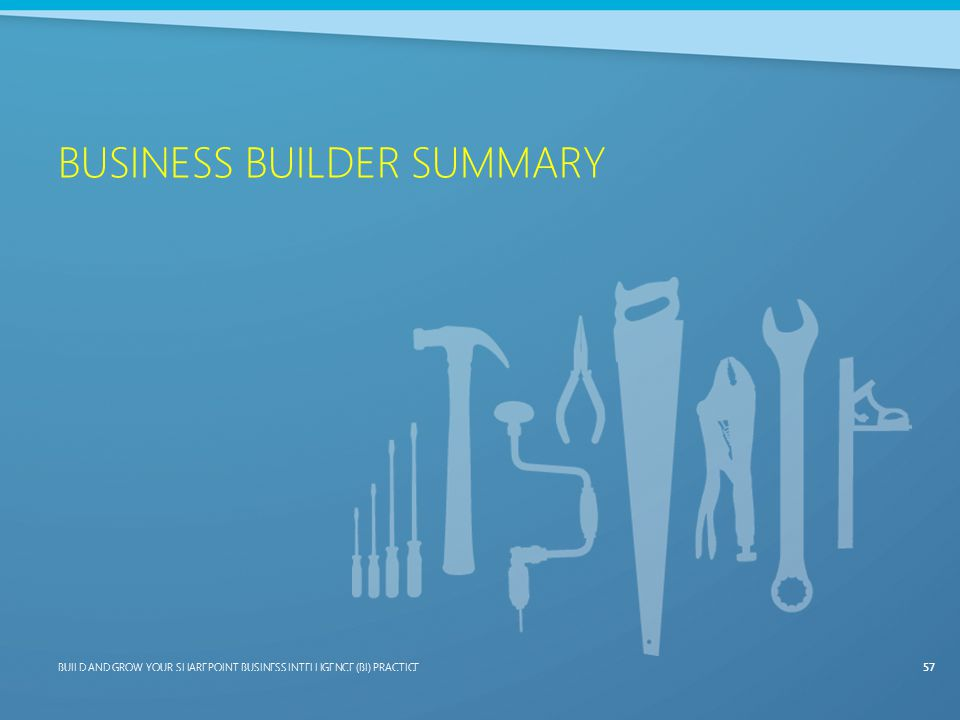 Business Builder Summary