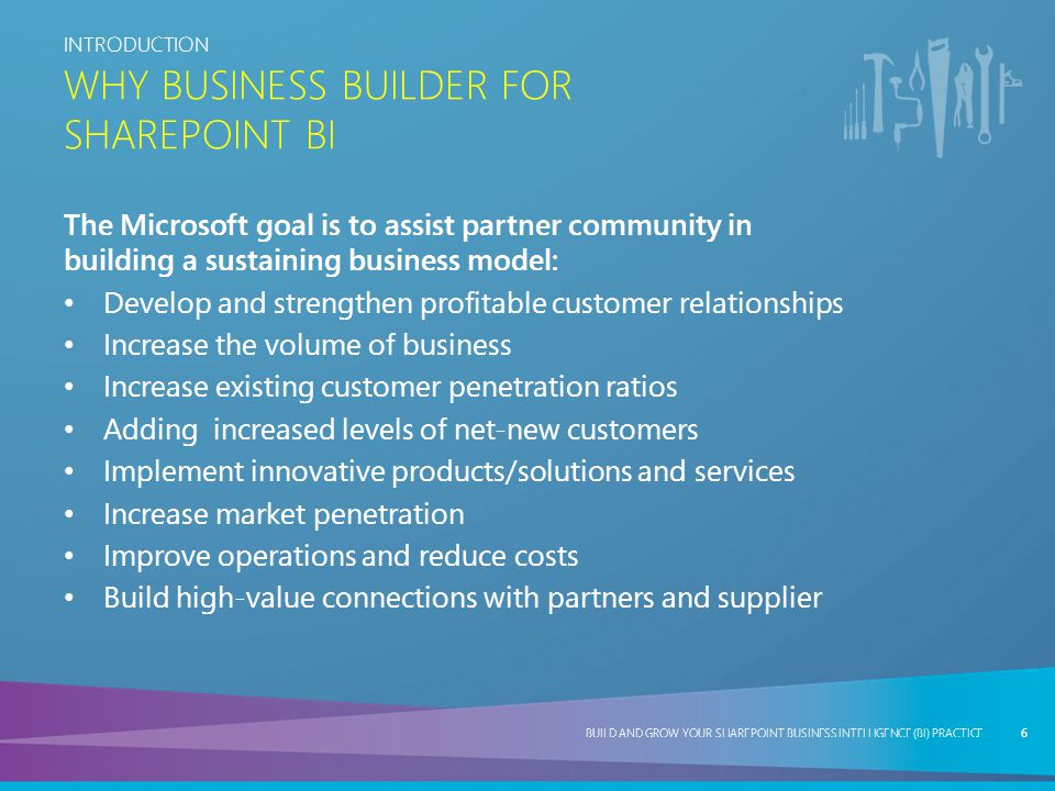Why Business Builder for SharePoint BI