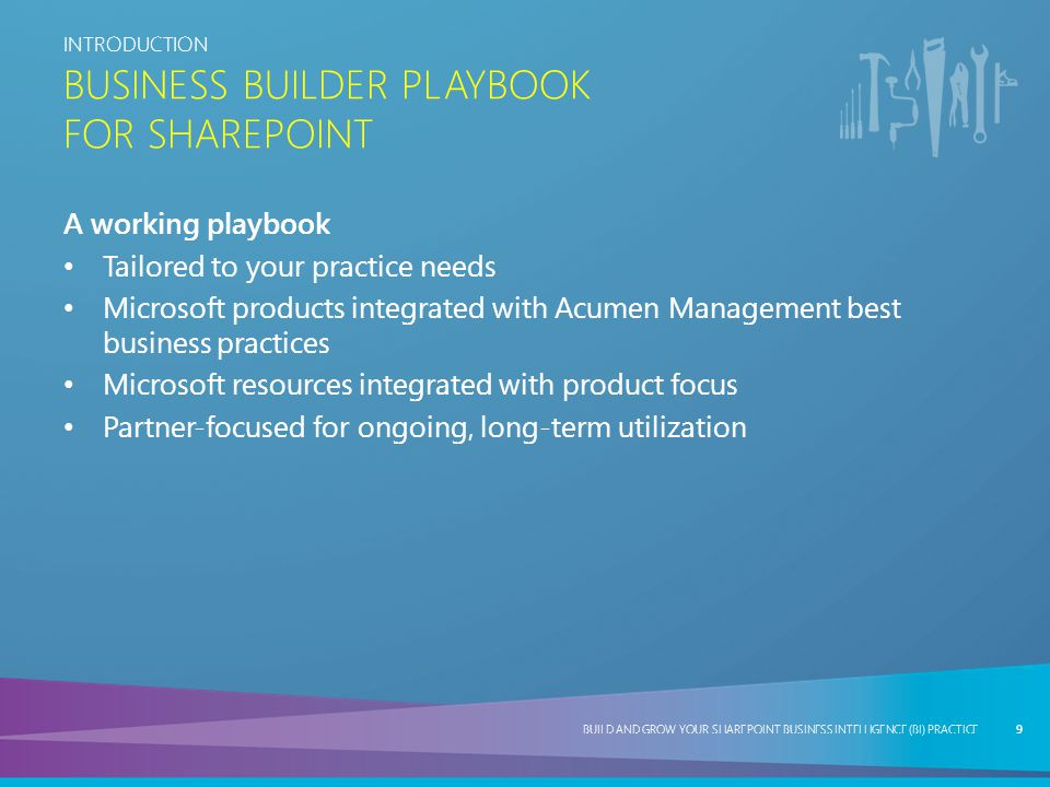 Business Builder Playbook for SharePoint