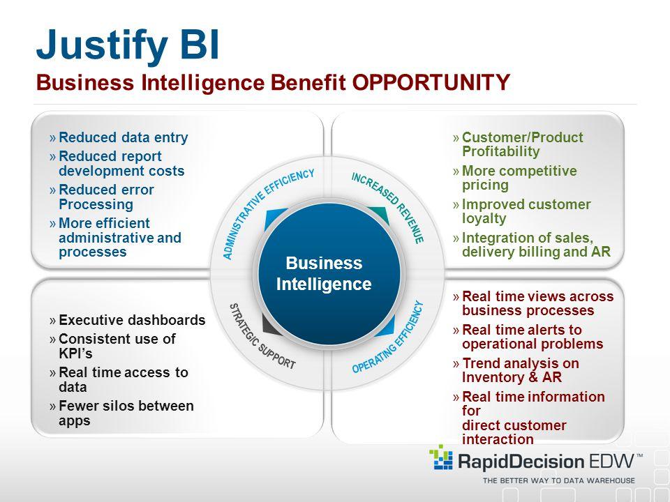 Justify BI Business Intelligence Benefit OPPORTUNITY
