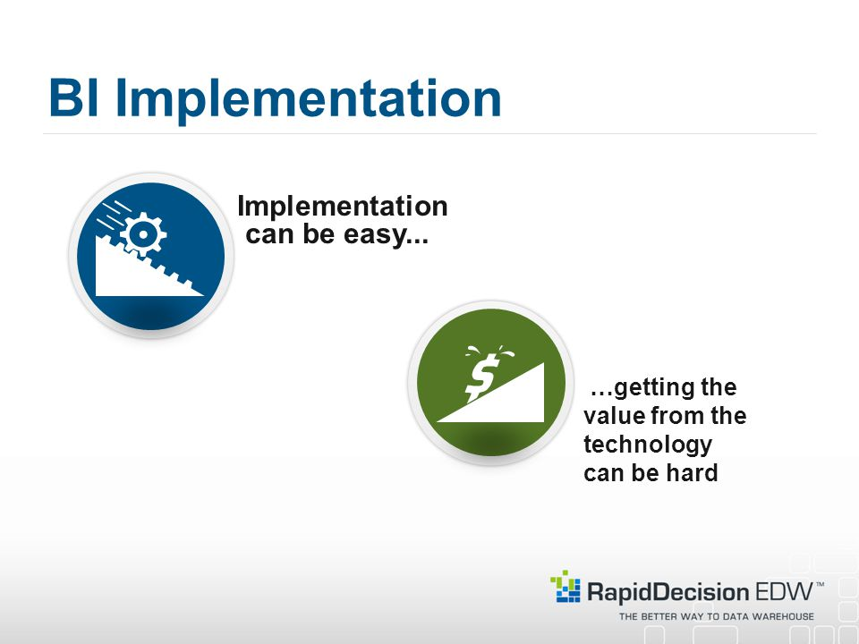 BI Implementation Implementation can be easy...