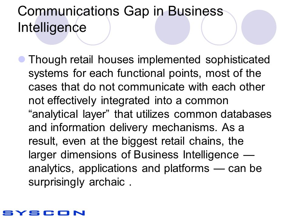 Communications Gap in Business Intelligence