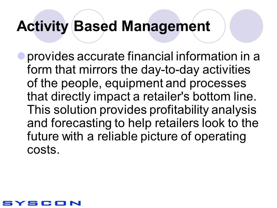 Activity Based Management