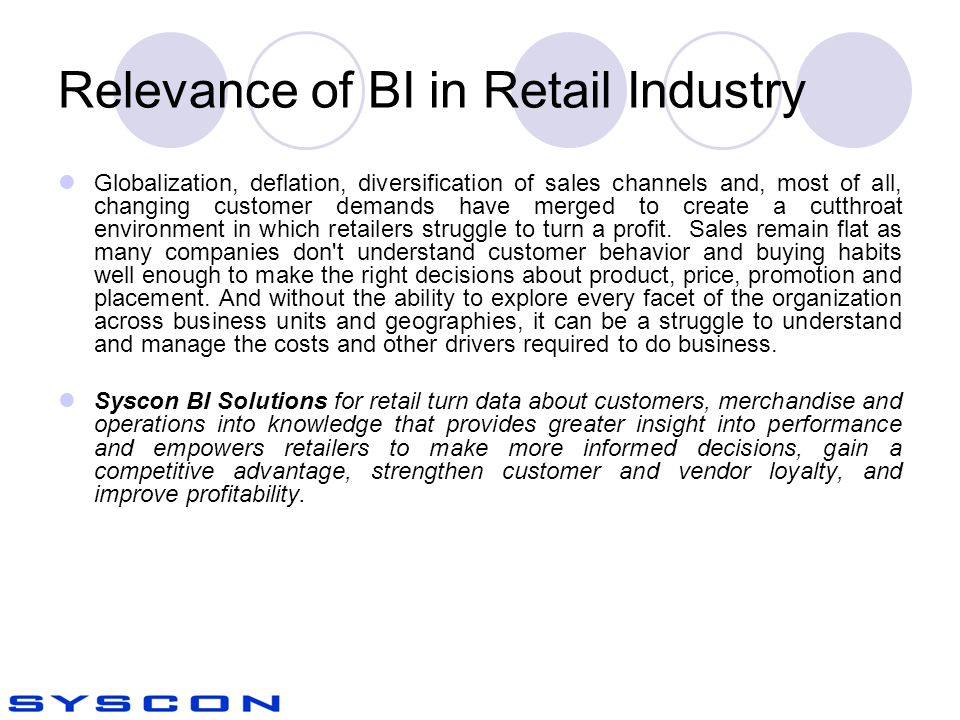 Relevance of BI in Retail Industry