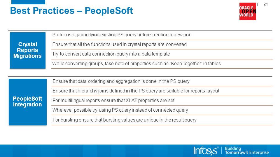 Best Practices – PeopleSoft