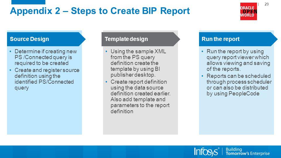 Appendix 2 – Steps to Create BIP Report