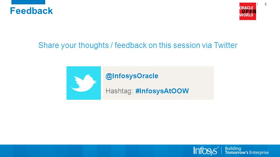 Share your thoughts / feedback on this session via Twitter