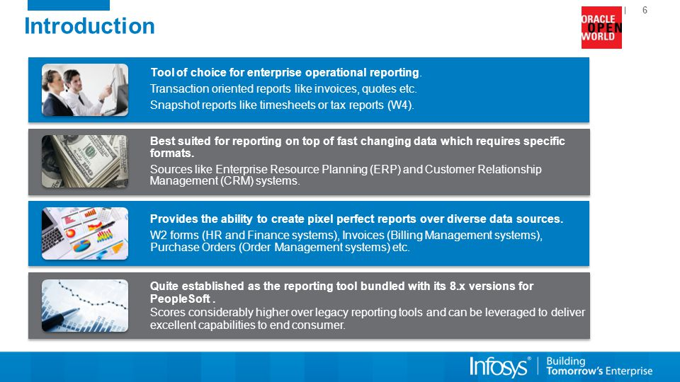 Introduction Tool of choice for enterprise operational reporting.