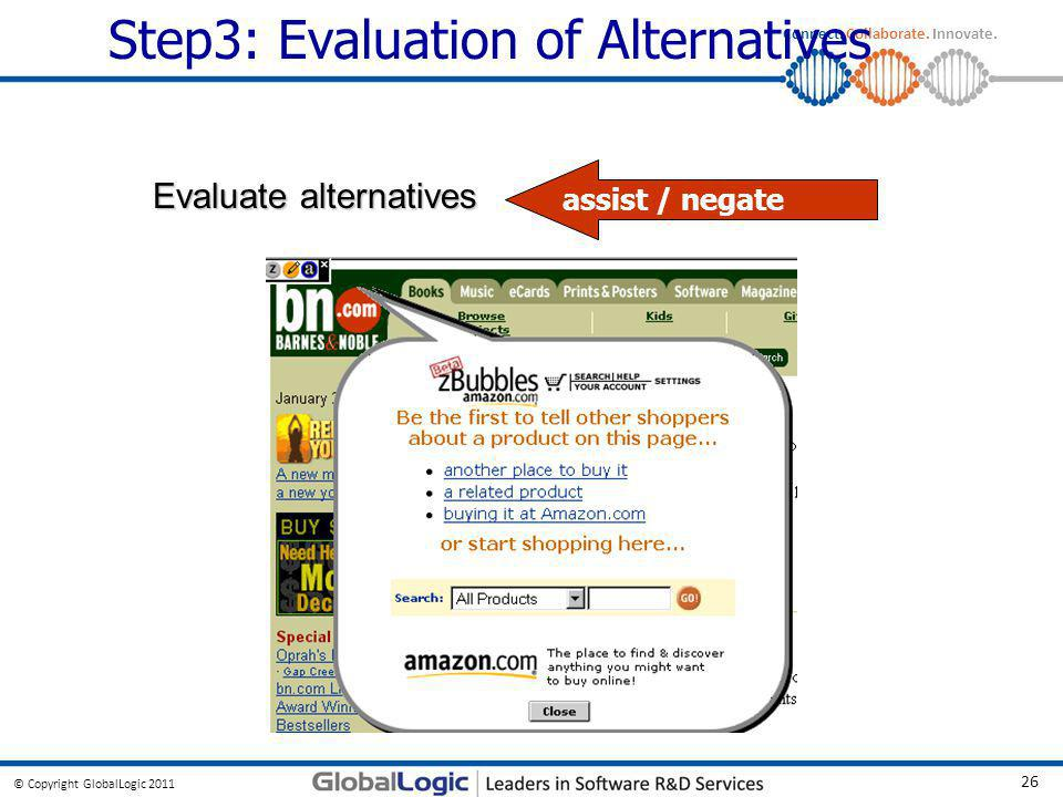 Step3: Evaluation of Alternatives