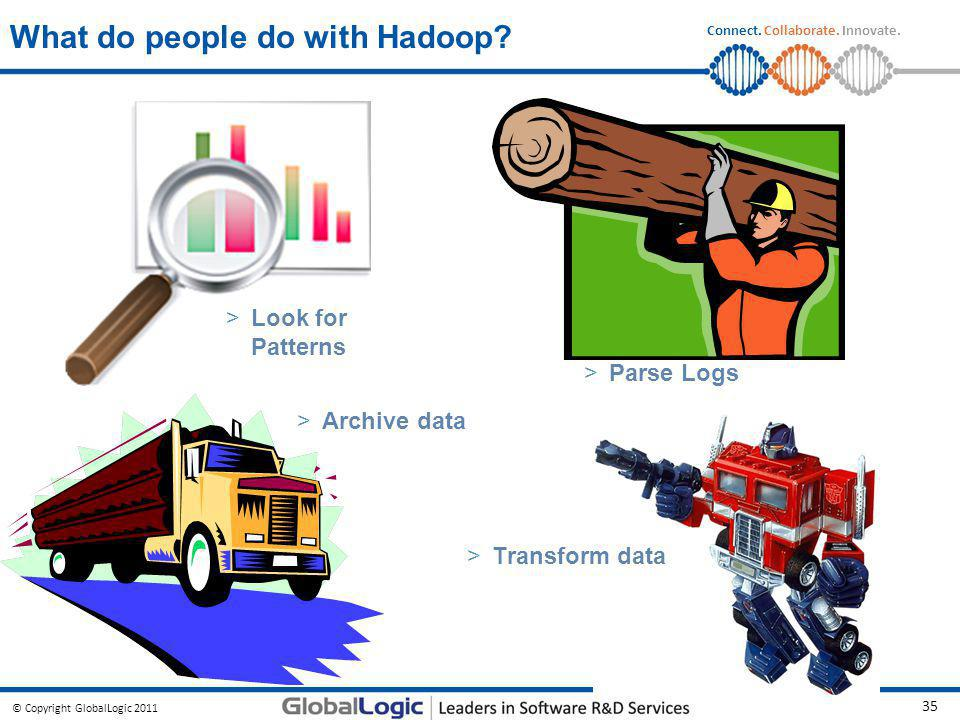 What do people do with Hadoop
