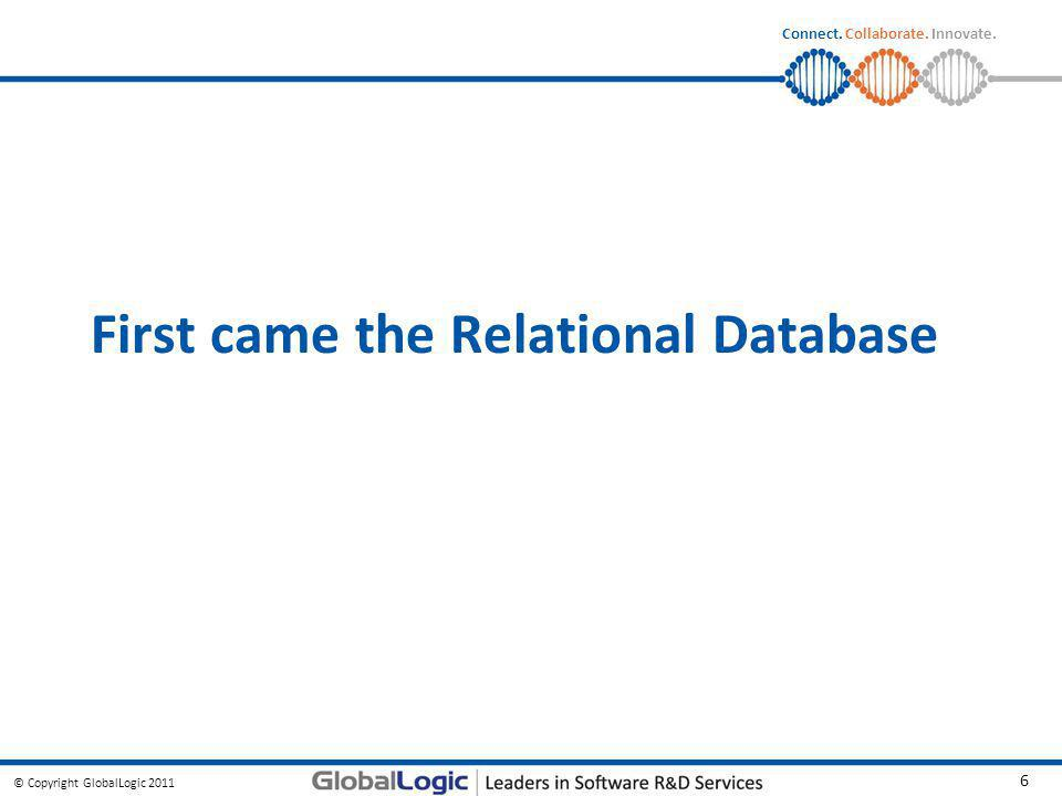 First came the Relational Database