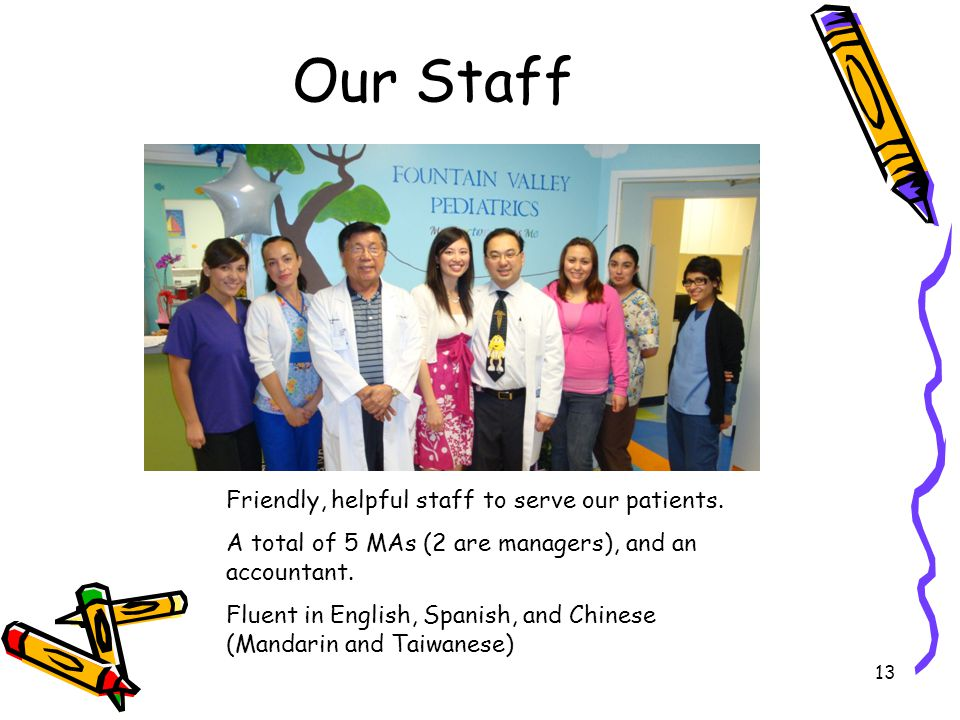 Our Staff Friendly, helpful staff to serve our patients.