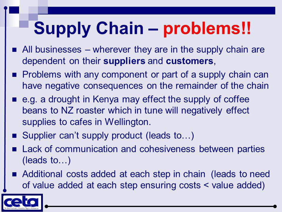 Supply Chain – problems!!