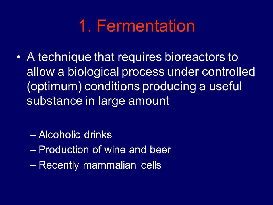 1. Fermentation