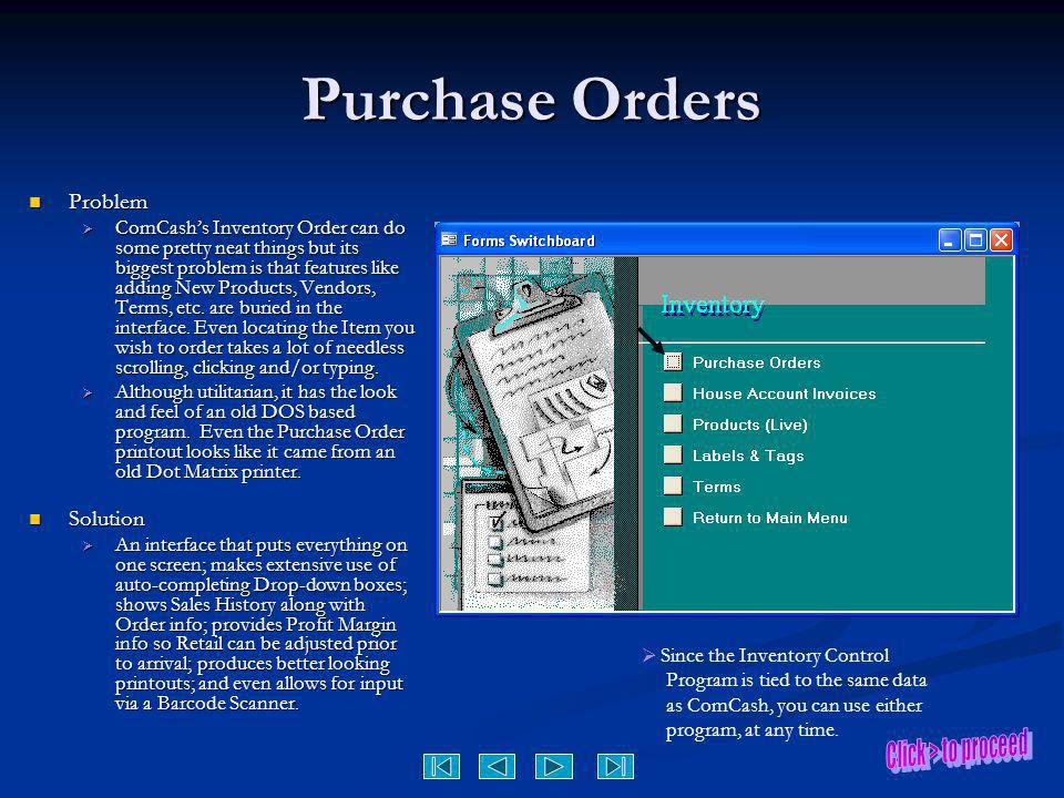 Purchase Orders Problem Solution