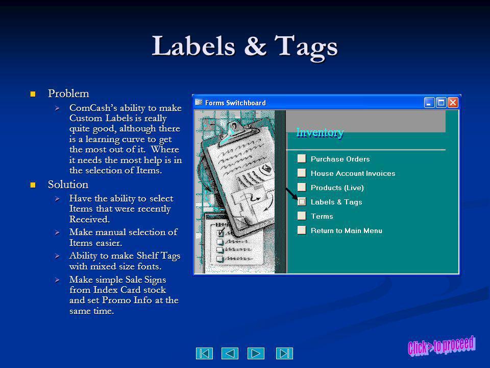 Labels & Tags Problem Solution
