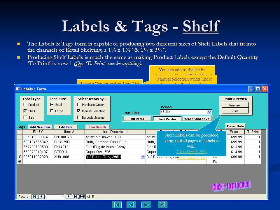 Labels & Tags - Shelf