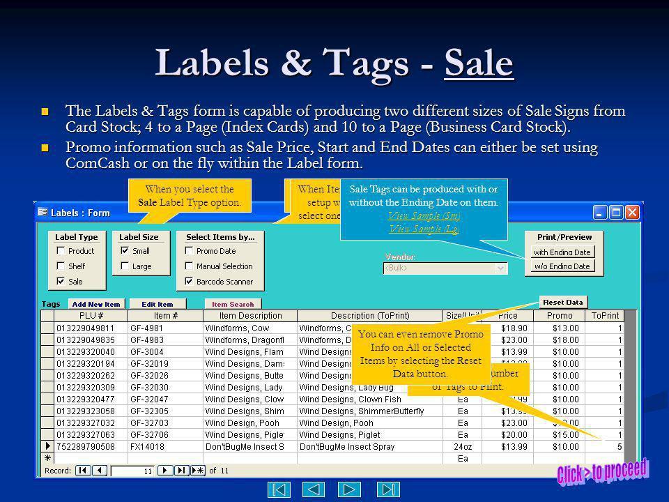 Labels & Tags - Sale