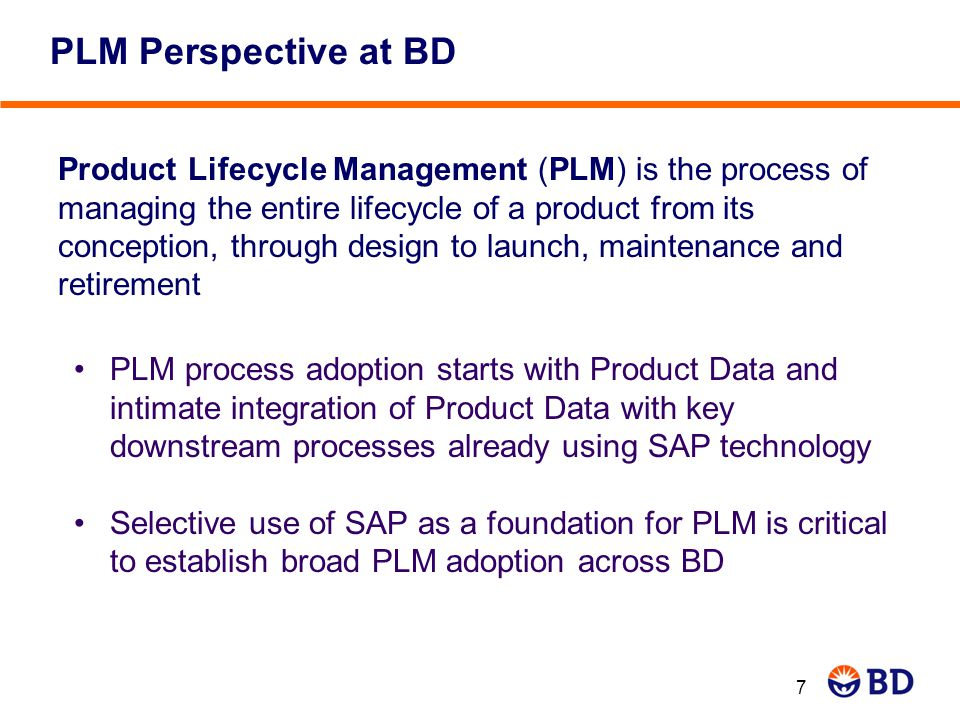 PLM Perspective at BD