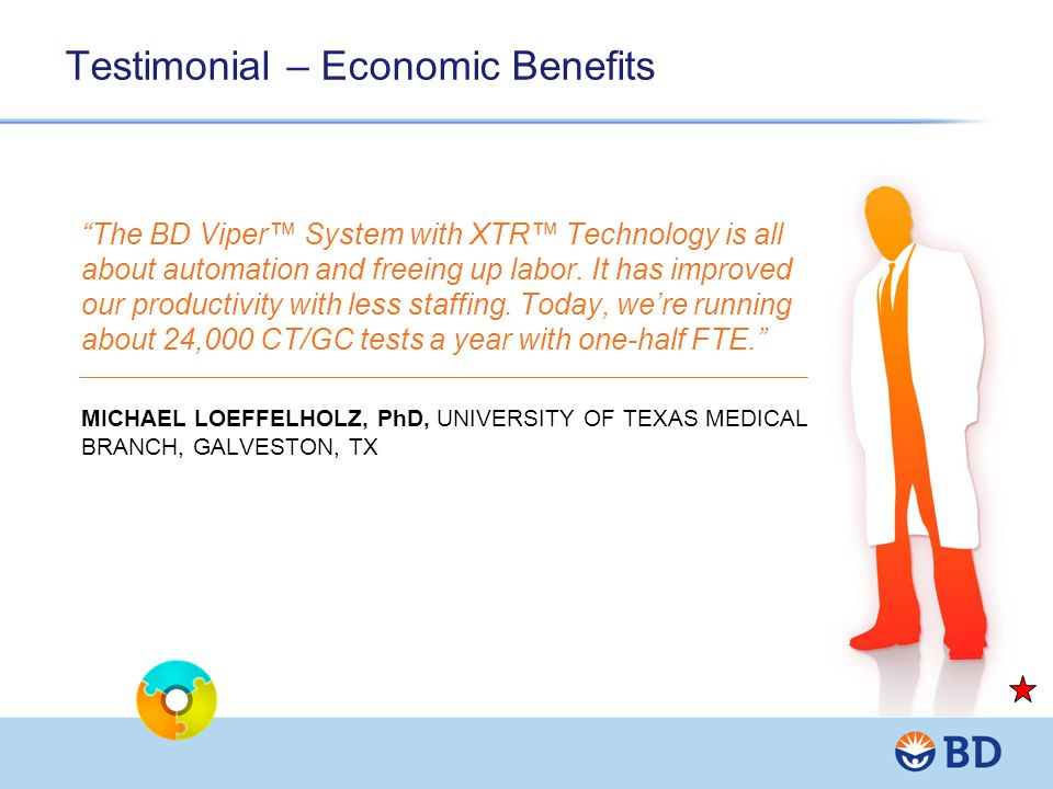 Testimonial – Economic Benefits