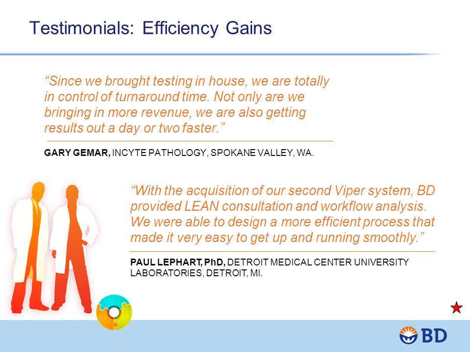 Testimonials: Efficiency Gains