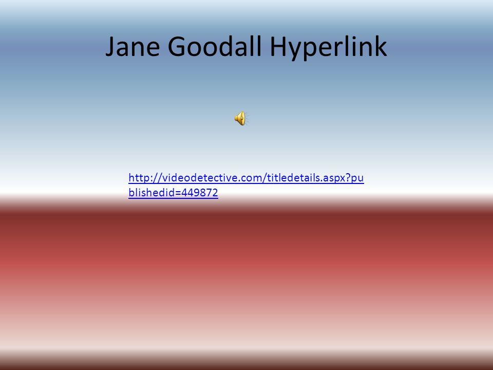 Jane Goodall Hyperlink