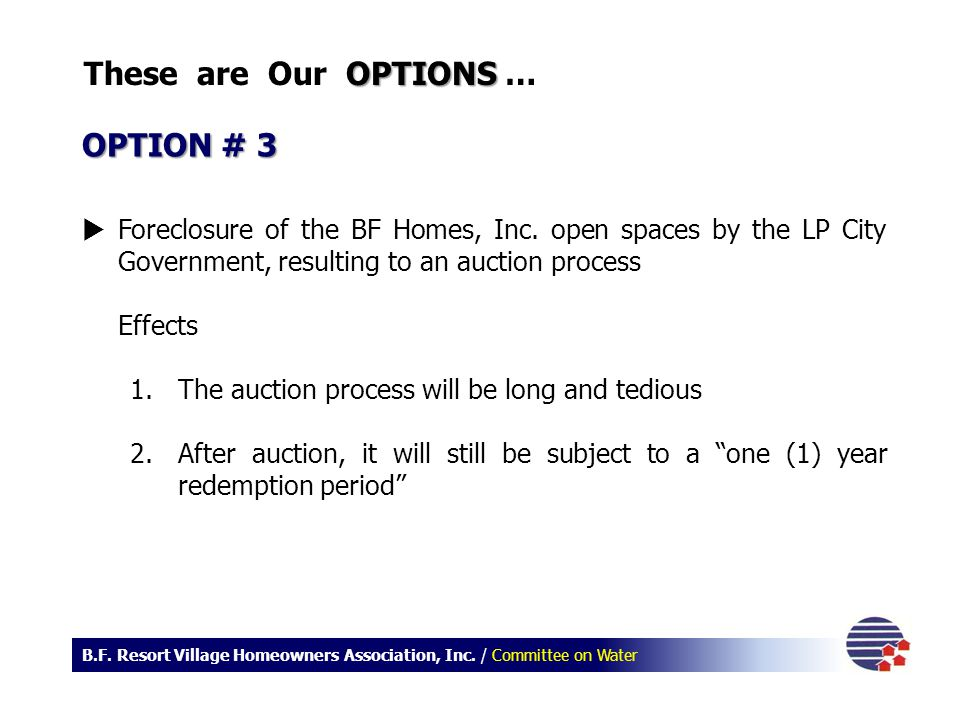 These are Our OPTIONS … OPTION # 3