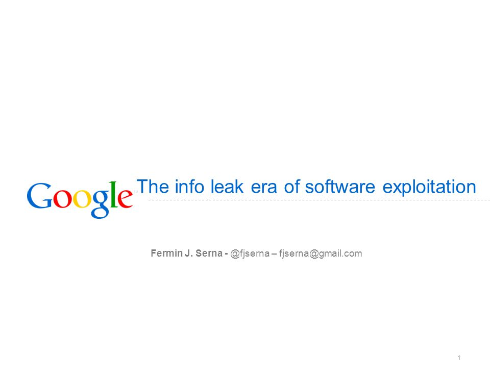 The info leak era of software exploitation