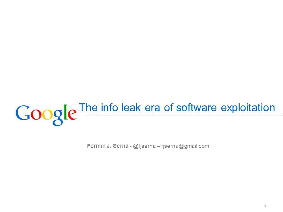 The info leak era of software exploitation