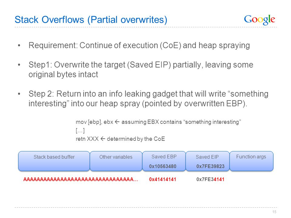 Stack Overflows (Partial overwrites)